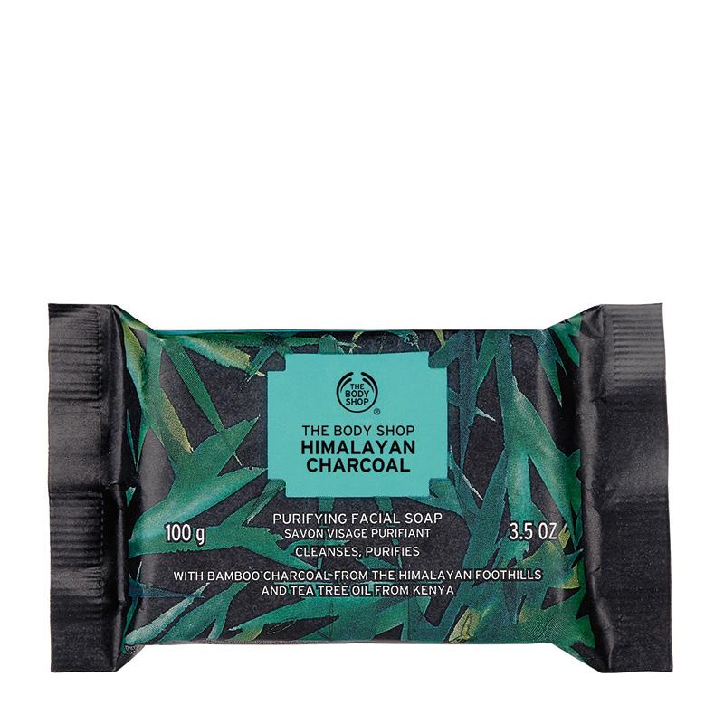 himalayan charcoal purifying facial soap 100g 01
