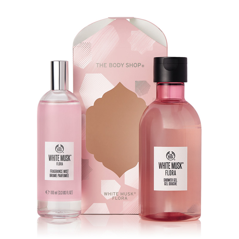 white musk flora mist essentials selection