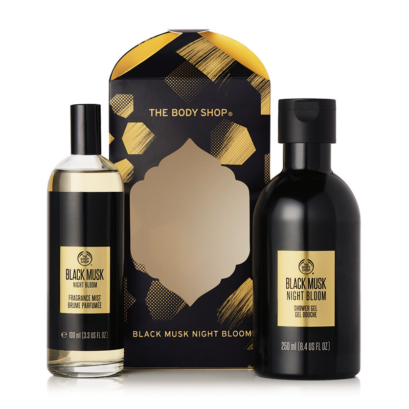 black musk night bloom mist essentials selection